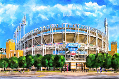 Mixed Media - Progressive Field - Cleveland Baseball by Mark Tisdale