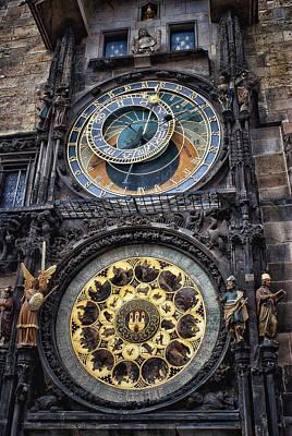 Progue Astronomical Clock Art Print by Sheila Mcdonald