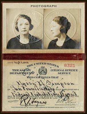 Flapper Photograph - Prohibition Agent by Jon Neidert