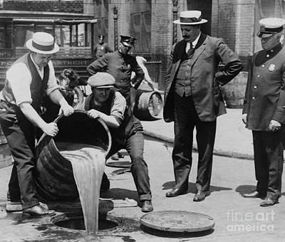 Prohibition Agents Dump Liquor Into Art Print