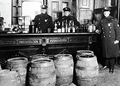 Cop Digital Art - Prohibition - Cops Busting A Speakeasy by Bill Cannon