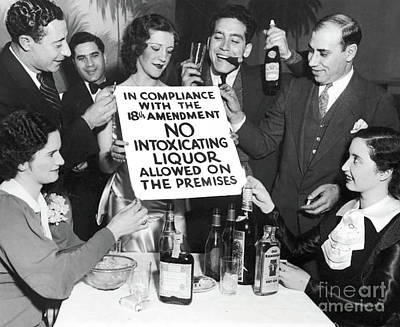 Bootleg Photograph - Prohibition Ends Let's Party by Jon Neidert