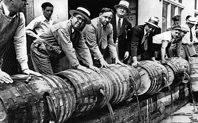 Prohibition Feds And Crew Dump Liquor Art Print