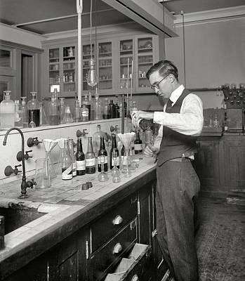 Prohibition - Government Bootleg Liquor Testing Lab Art Print