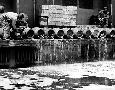 Fed Photograph - Prohibition Keg Dump by Daniel Hagerman
