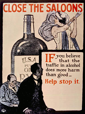 Jt History Photograph - Prohibition Poster, 1918 by Everett