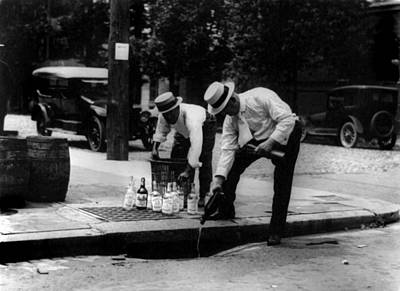 1930s Photograph - Prohibition, Pouring Whiskey by Everett