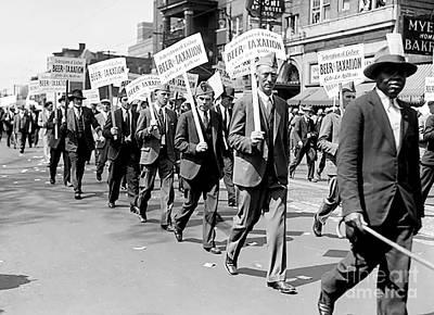 Police Art Photograph - Prohibition Protest March by Jon Neidert