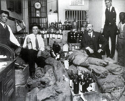 Social Movements Photograph - Prohibition, Texas Bootlegger Booty by Science Source