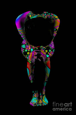 Projected Body Paint 2094995a Print by Rolf Bertram