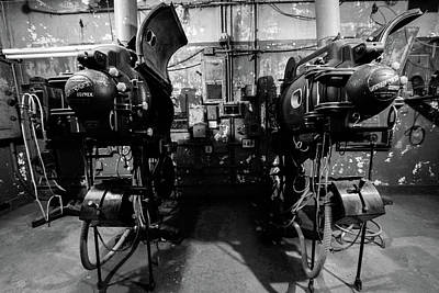 Photograph - Projectors In Black And White by Michael Porchik