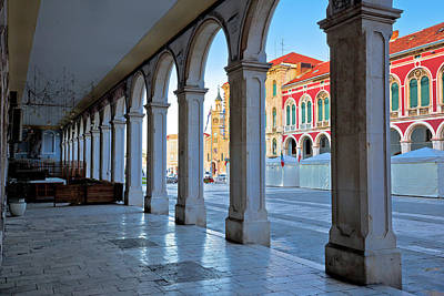 Photograph - Prokurative Square Of Split Arcades View by Brch Photography