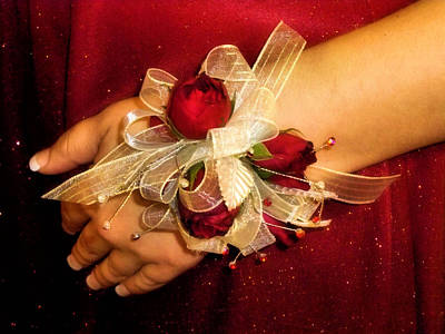 Prom Corsage Art Print by Karen M Scovill