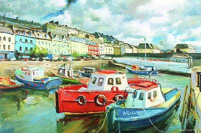 Irish Oil Painting - Promenade At Cobh by Conor McGuire