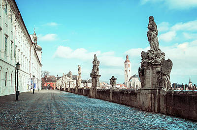 Photograph - Promenade At Jesuit College In Kutna Hora  by Jenny Rainbow
