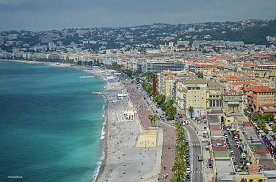 Photograph - Promenade Des Anglais - Nice, France by Allen Sheffield
