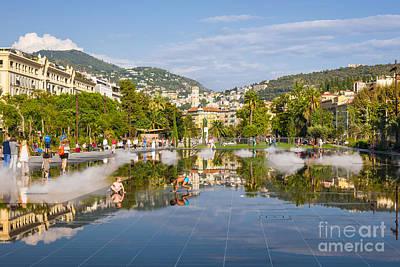 Children Playing Photograph - Promenade Du Paillon In Nice by Elena Elisseeva