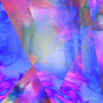 Digital Art - Promenade In Our Dreams by Karo Evans