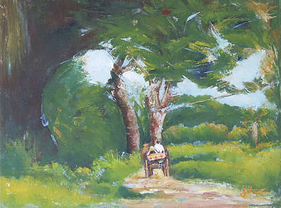 Carriage Driving Painting - Promenade by Jovica Kostic