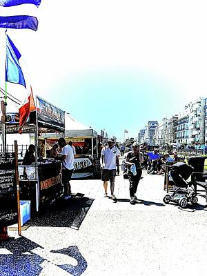 Photograph - Promenade Market At Eastbourne Sussex by Dorothy Berry-Lound