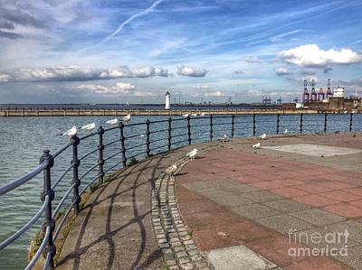 Photograph - Promenade View At New Brighton by Joan-Violet Stretch