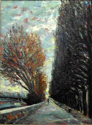 Painting - Promenade by Walter Casaravilla