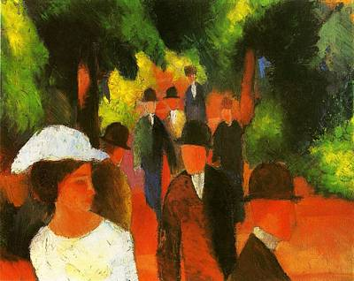 Painting - Promendade by August Macke