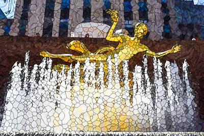 Painting - Prometheus Fountain by Jeelan Clark
