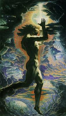 Painting - Prometheus by Jean Delville