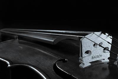 Violin Photograph - Prominent Violin Bridge Art by Iordanis Pallikaras