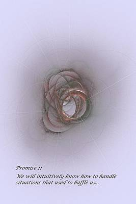 Listening Digital Art - Promise 11 Intuition Helps Us by Doug Morgan