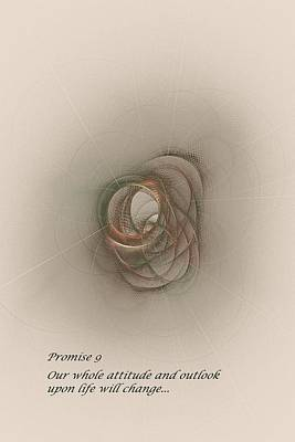 Promise 9 Attitude And Outlook Will Change Art Print