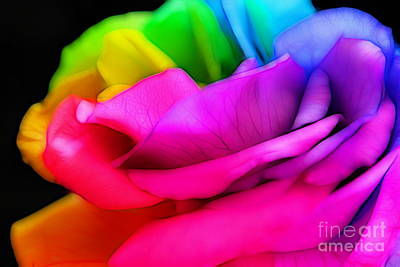 Rainbow Rose Photograph - Promise Me by Krissy Katsimbras