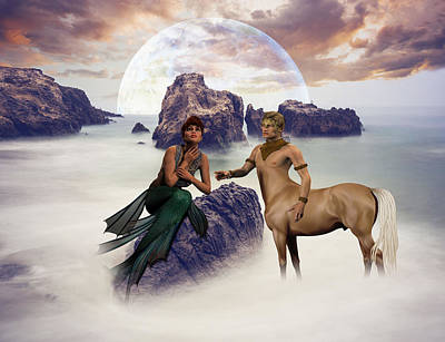 Centaur Digital Art - Promise Me The Stars My Love by Solomon Barroa