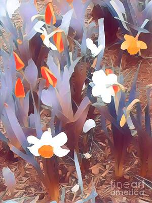 Photograph - Promise Of Spring - Orange And White Sundae by Miriam Danar