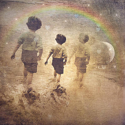 Phases Of The Journey--the Promise Of The Rainbow Art Print