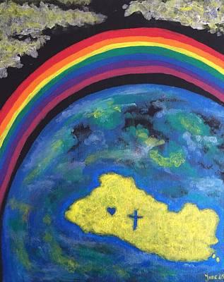 Salvador Mixed Media - Promises Over El Salvador by Irene Halvorsen