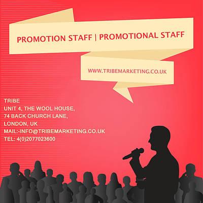 Promotion Staff Art Print