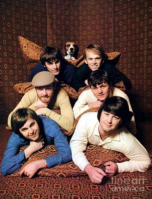 Jardine Photograph - Promotional Photo Of The Beach Boys In A Tent 1966 by The Titanic Project