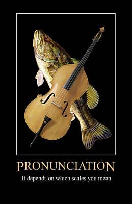 Digital Art - Pronunciation by John Haldane