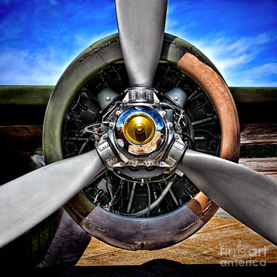 Wings Photograph - Propeller Art   by Olivier Le Queinec