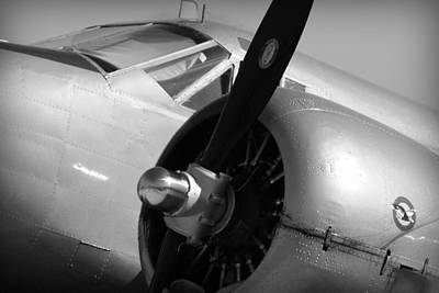 Photograph - Propeller Of An Airplane In Black And White by Kelly Hazel