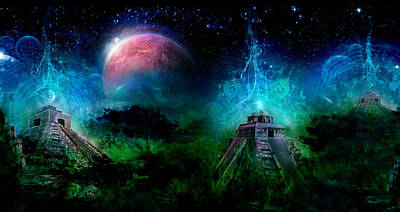 Spirt Digital Art - Prophecy Of Time by Justin Totemical