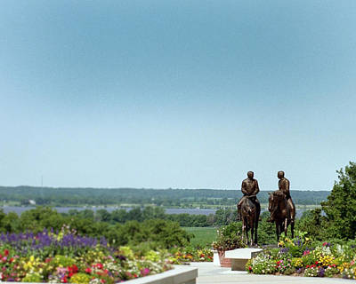 Bronze Sculpture - Prophets Last Ride  Bronze Monument Of Hyrum And Joseph Smith In Nauvoo Illinois by Kim Corpany