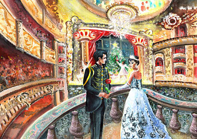Painting - Proposal At The Nutcracker by Miki De Goodaboom