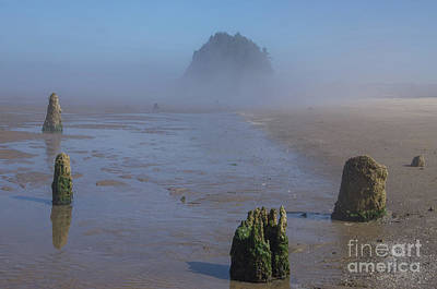 Photograph - Proposal Rock Rises From The Mist- H1 by Rick Bures