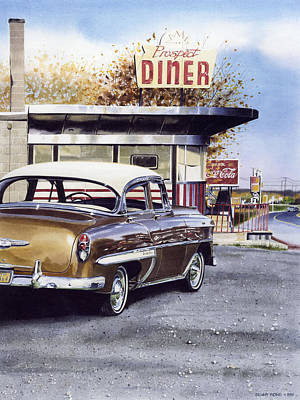 Prospect Diner Art Print by Denny Bond