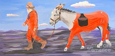 Painting - Prospector And Pal by Phyllis Kaltenbach