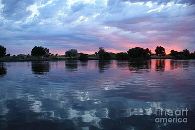 Prosser Pink Sunset 5 Art Print by Carol Groenen