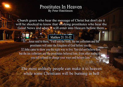 Photograph - Prostitutes In Heaven by Peter Hutchinson